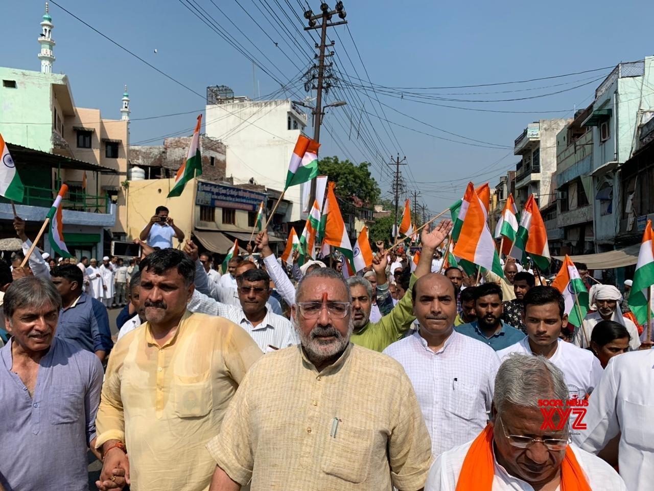 Meerut: BJP leaders take out march demanding legislation on curbing population (Batch - 2) #Gallery