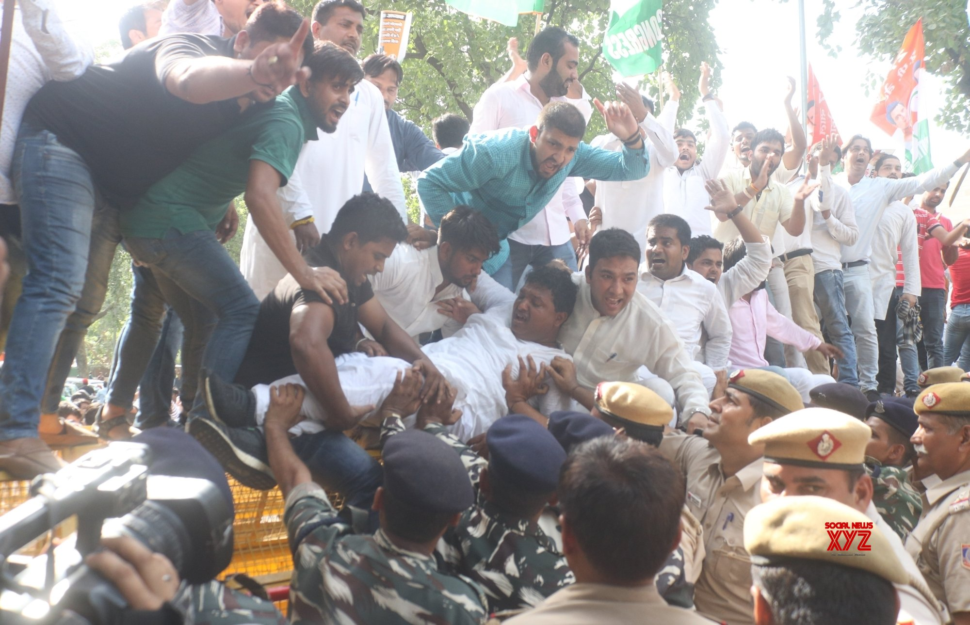 Youth Congress protests against 'vendetta politics'
