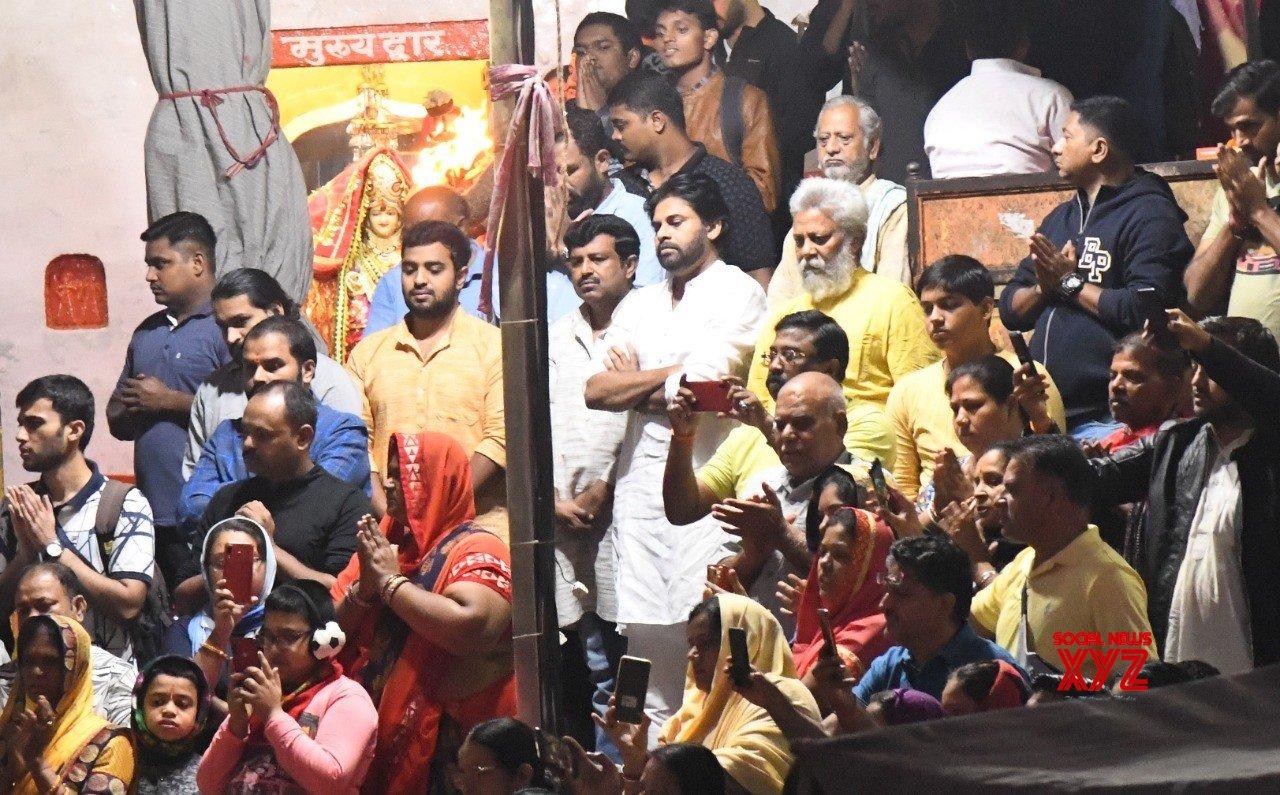 JanaSena Chief Pawan Kalyan At Ganga Aarti In Haridwar - Gallery