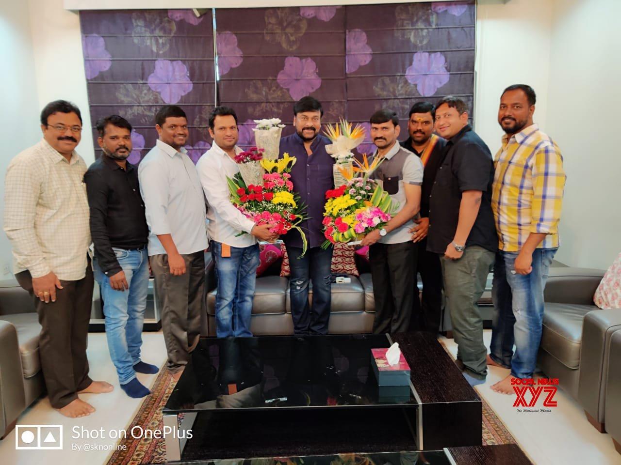 Team Film News Casters Congratulate Megastar Chiranjeevi On The Huge Success Of Magnum Opus Sye Raa Narasimha Reddy