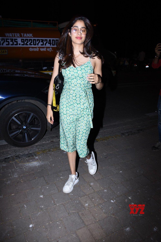 Mumbai: Janhvi Kapoor seen at Zoya Akhtar's house #Gallery