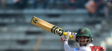 Chittagong: Bangladesh's Mominul Haque in action on Day 2 of the Only Test between Afghanistan and Bangladesh at Zahur Ahmed Chowdhury Stadium in Chittagong, Bangladesh on Sep 6, 2019. (Photo: Twitter/@ICC)