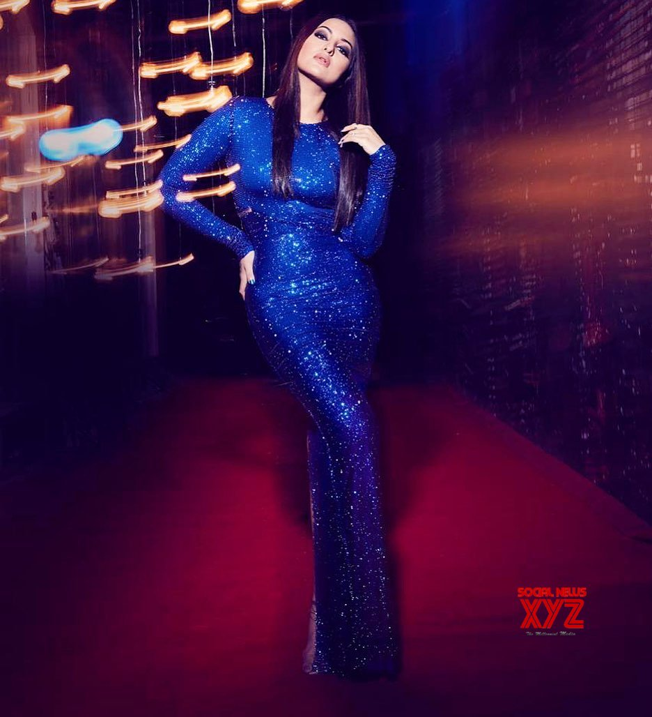 Actress Sonakshi Sinha Glam Stills In All Blue