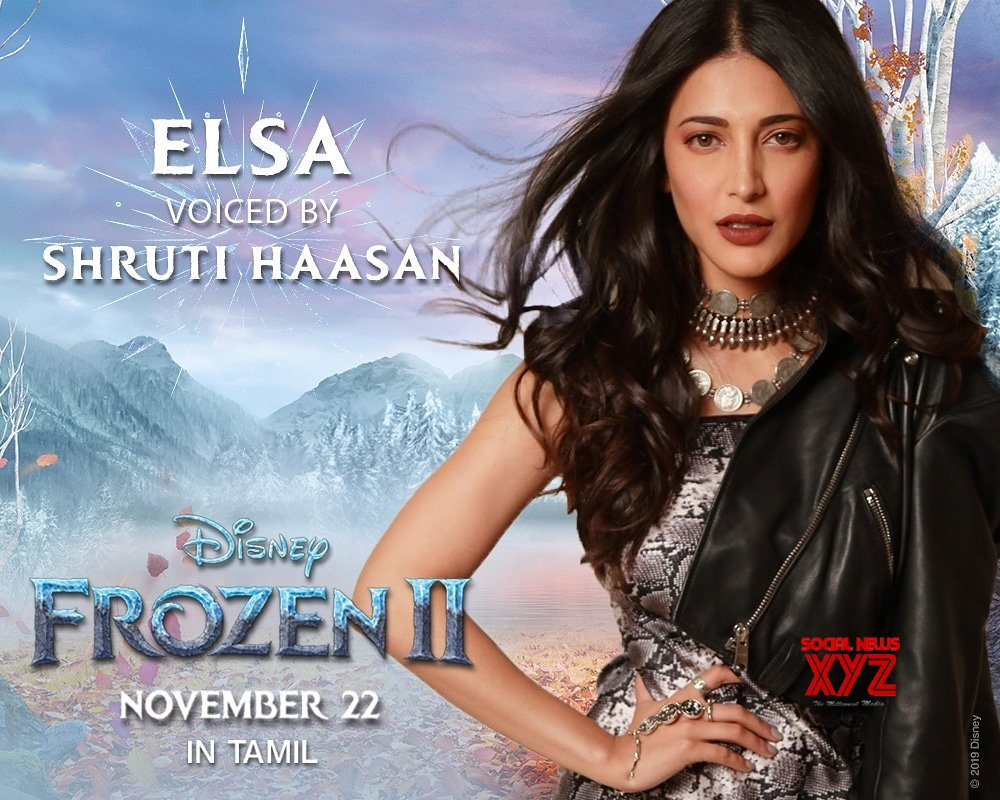 Actress Shruti Haasan Will Be Voicing Elsa From Frozen 2 In Tamil