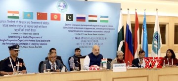 New Delhi: Union Home Minister Amit Shah presides over the 10th Meeting of Heads of Authorities of Member States of Shanghai Cooperation Organisation (SCO), in New Delhi on Nov 8, 2019. (Photo: IANS/PIB)