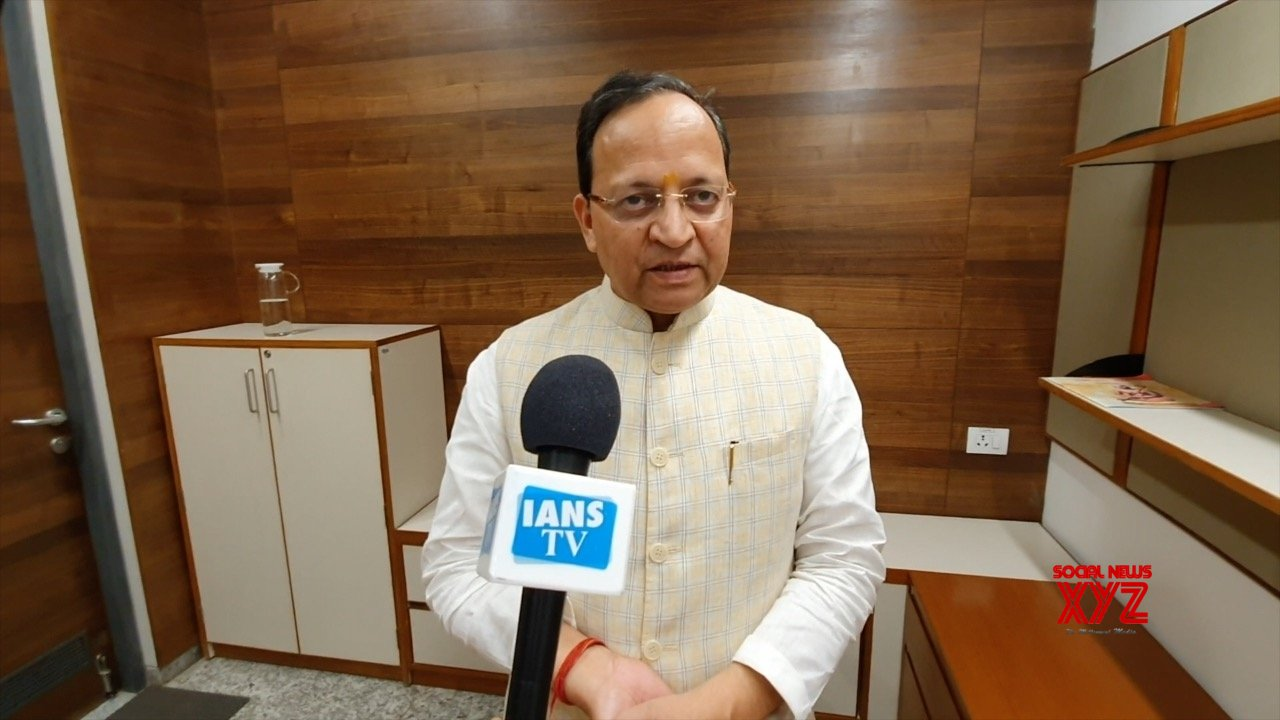 New Delhi: BJP's Arun Singh talks to IANS TV on SC's Ayodhya verdict #Gallery