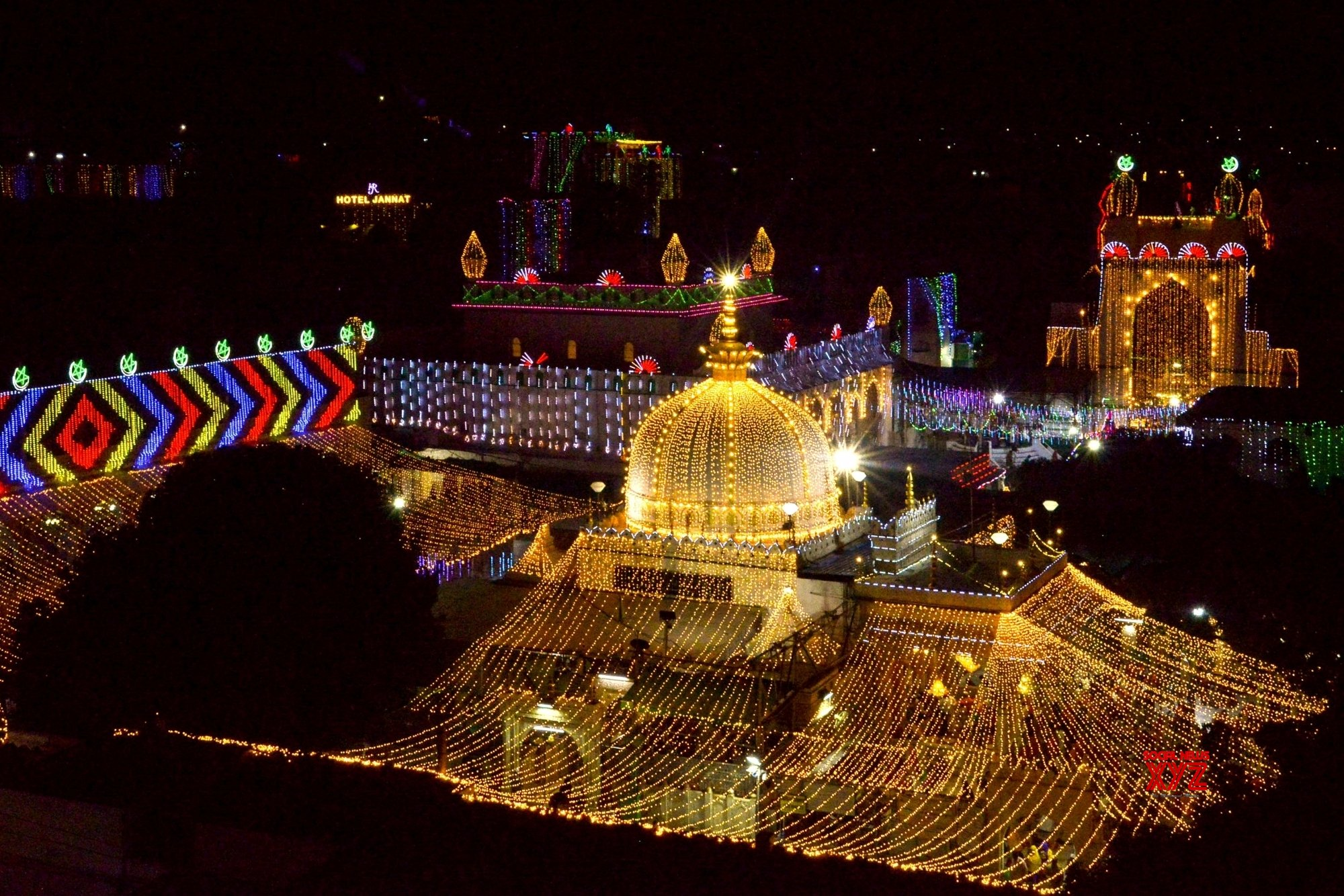 Ajmer: Ajmer Sharif Dargah illuminated on the eve of Eid - e - Milad #Gallery
