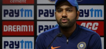 Nagpur: Indian captain Rohit Sharma addresses a press conference ahead of the third T20I match against Bangladesh, at Vidarbha Cricket Association Stadium in Nagpur, Maharashtra on Nov 9, 2019. (Photo: Surjeet Yadav/IANS)