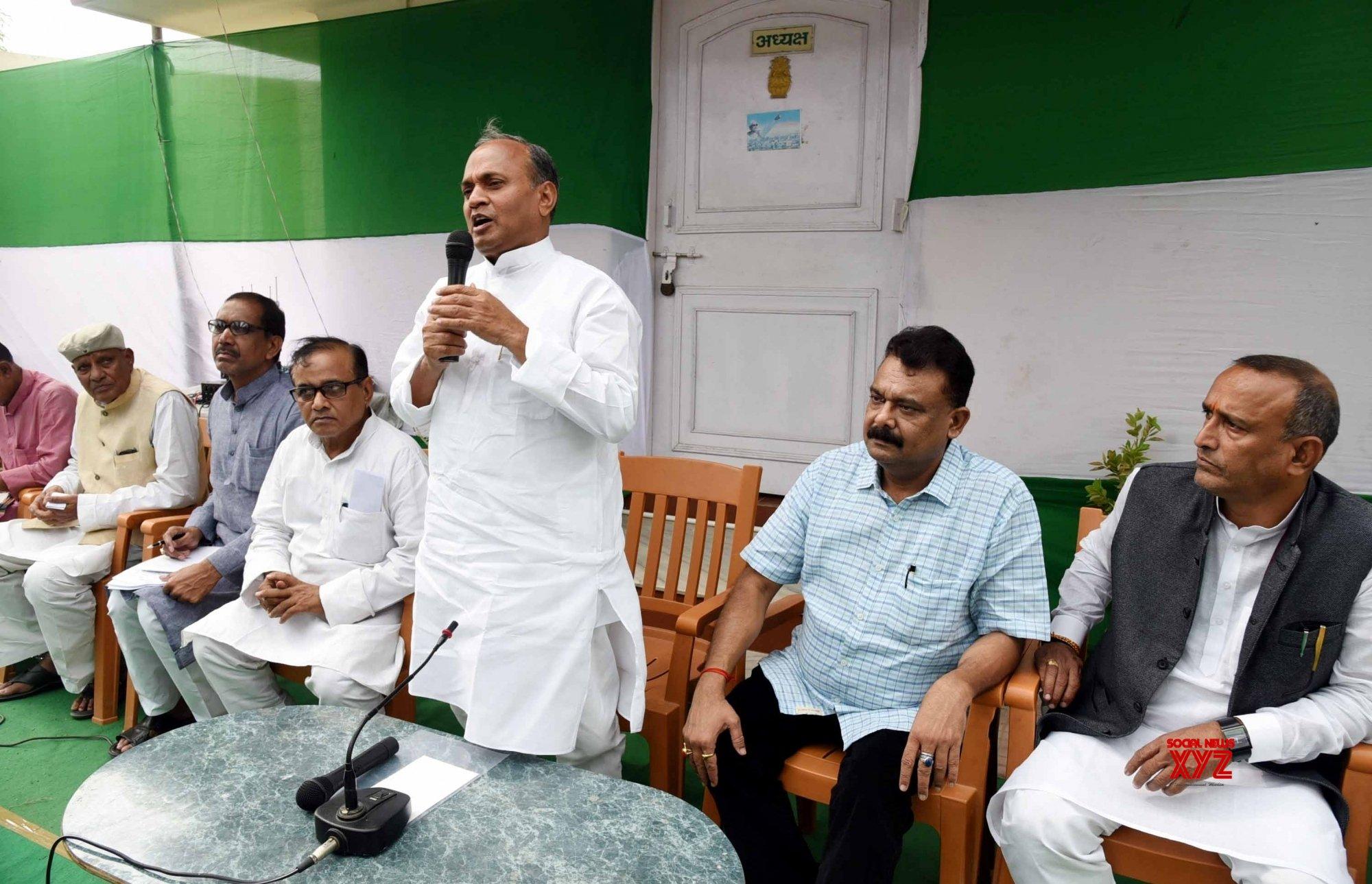 Patna: Ramchandra Prasad Singh at JD - U meeting #Gallery