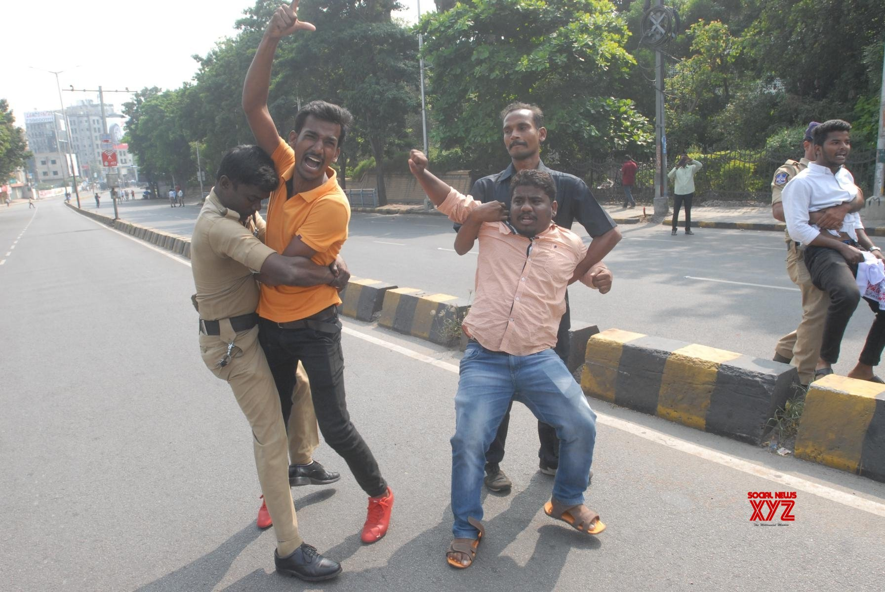 Hyderabad: RTC employees protest, detained #Gallery