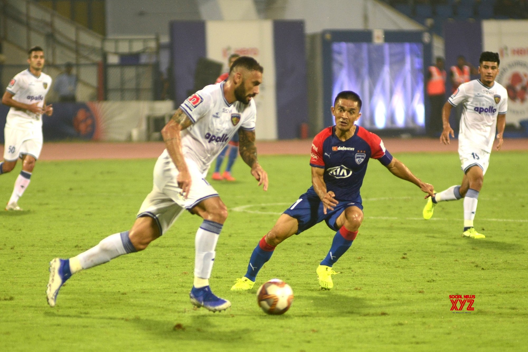 Bengaluru: ISL - Bengaluru FC Vs Chennaiyan FC (Batch - 3) #Gallery
