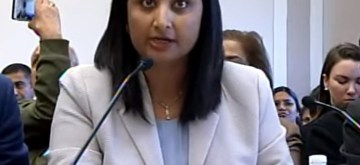 Kashmiri journalist Sunanda Vashisht testifies at a hearing on Kashmir held by the Tom Lantos Human Rights Commission of the United States Congress in Washington on Thursday, Nov. 14, 2019. (Photo: Lantos Commission).