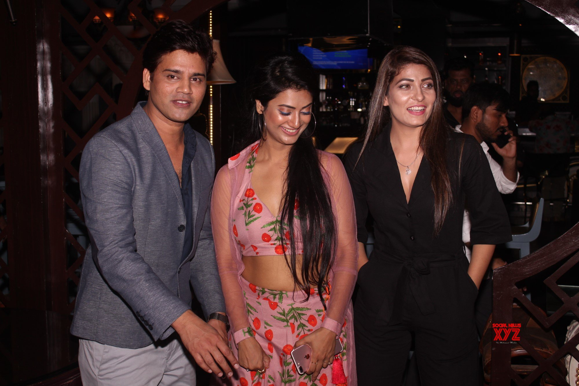 Mimoh Chakraborty, Monty Sharma, Jayveer Panghaal, Nikita Soni, Muzahid Khan, And Ankita Thakur At Sorry I Am Late Movie Announcement