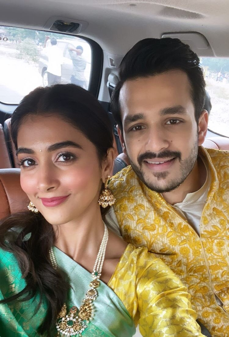 First Time For Pooja Hegde and Akhil
