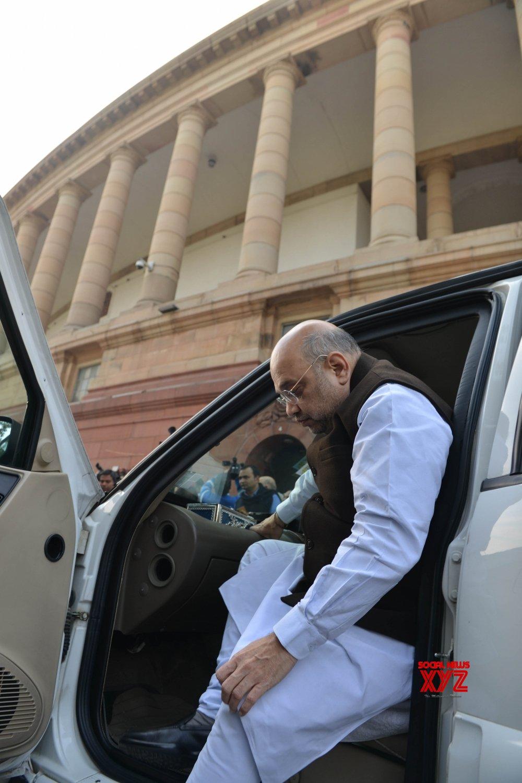 New Delhi: Amit Shah at Parliament #Gallery