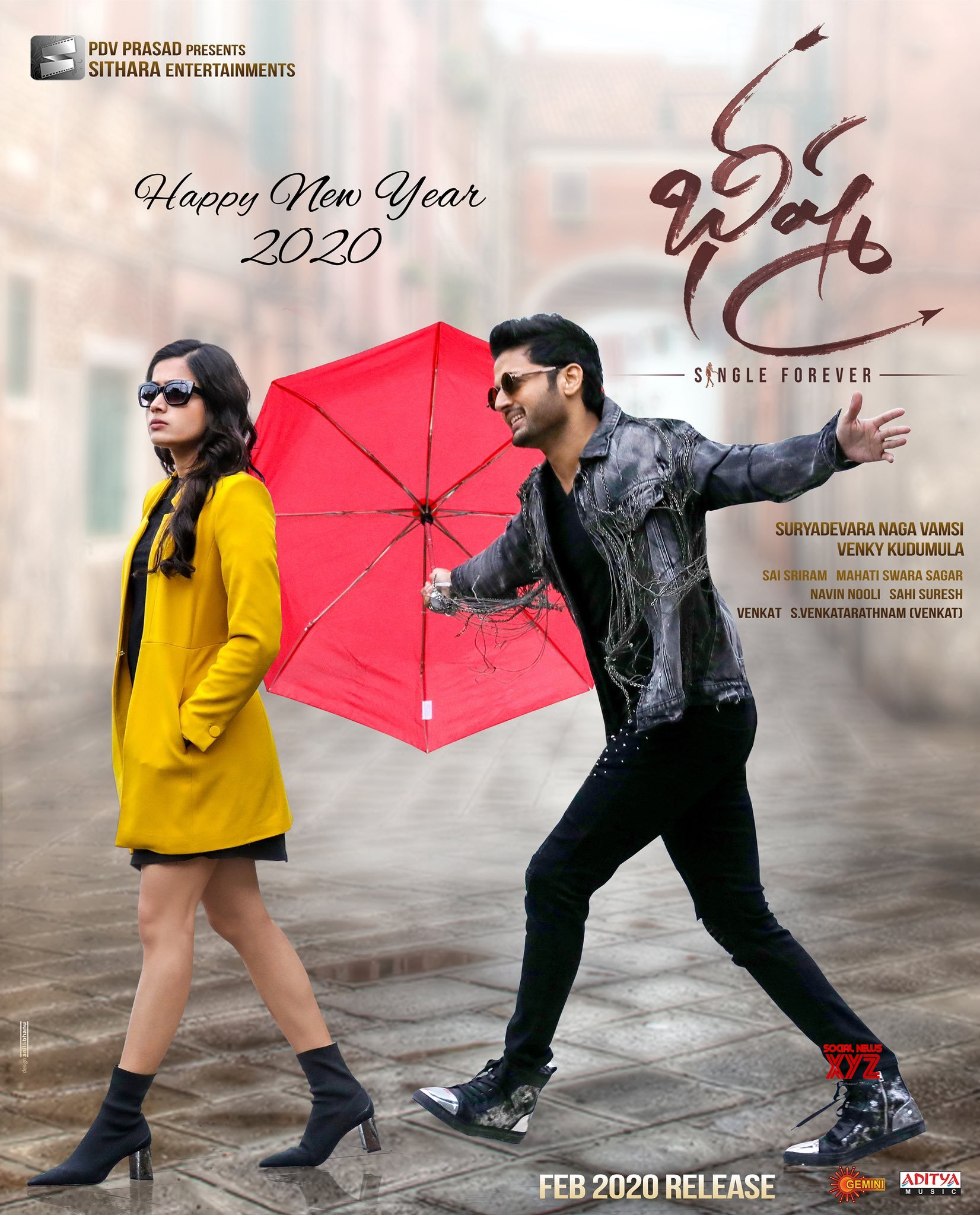 Nithiin And Rashmika Mandanna S Bheeshma Movie Happy New Year 2020 Poster Social News Xyz