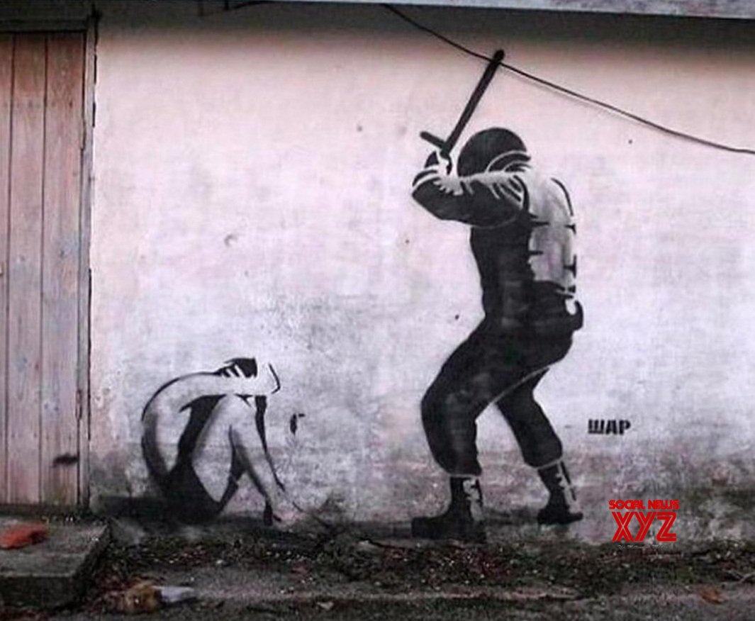 Abhay Deol shares art on police brutality - Social News XYZ