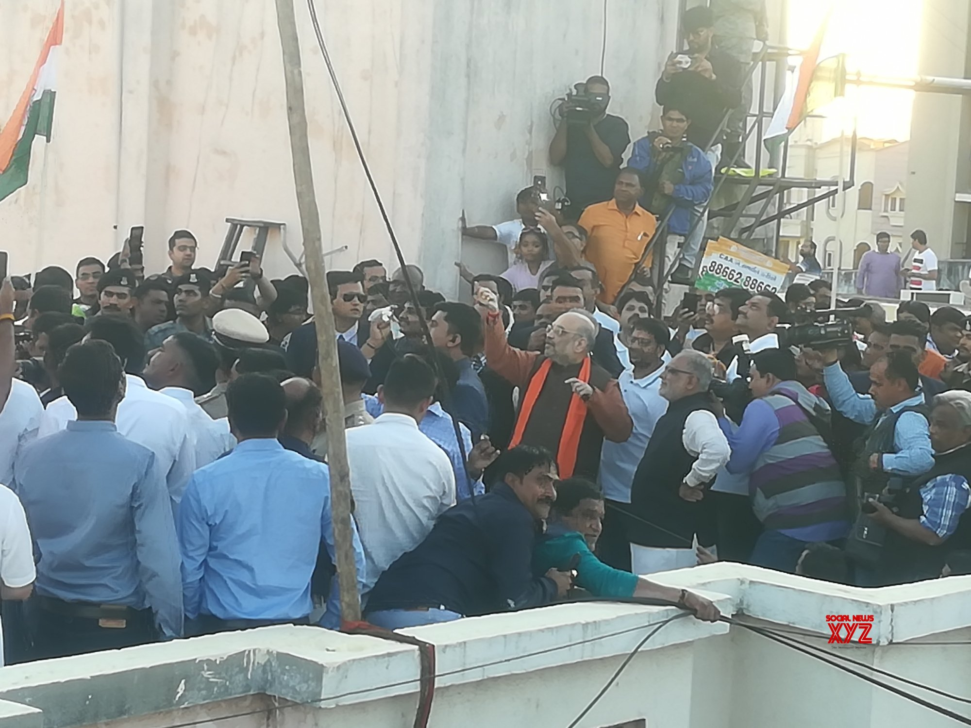 Ahmedabad: Amit Shah flies a kite during Makar Sankranti celebrations #Gallery