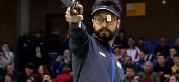 Indian sport shooter Abhishek Verma.