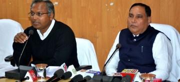 Patna: Minister Maheshwar Hazari addresses a press conference in patna on Feb 7, 2020. (Photo: IANS)