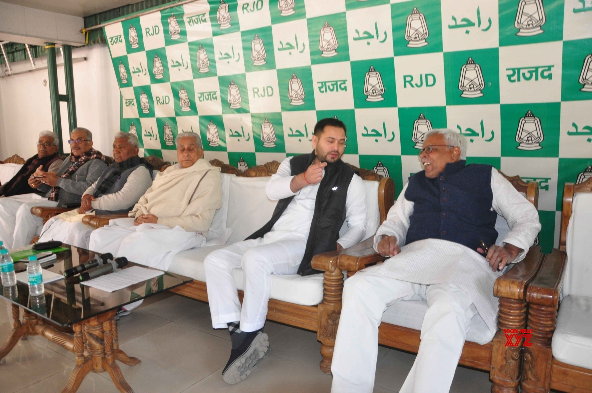 Patna: Jagada Nand Singh, Tejashwi Yadav at RJD meeting #Gallery