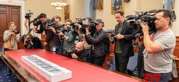 The proposed United States budget for 2021 is readied for release at the US Capitol in Washington on Monday, February 10, 2020. (Photo: USGPO/IANS)