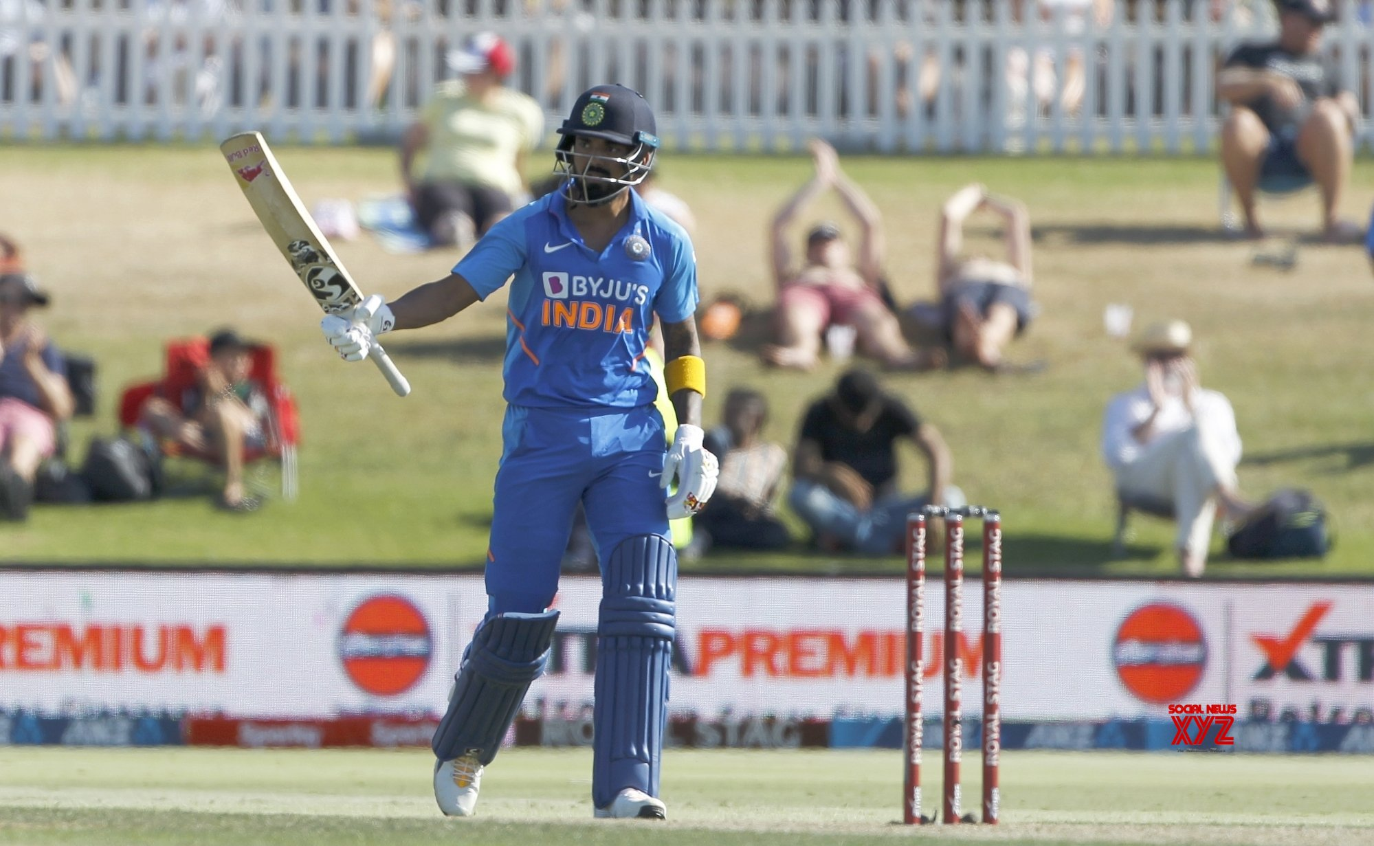 3rd ODI: Rahul ton helps India set 297-run target for NZ