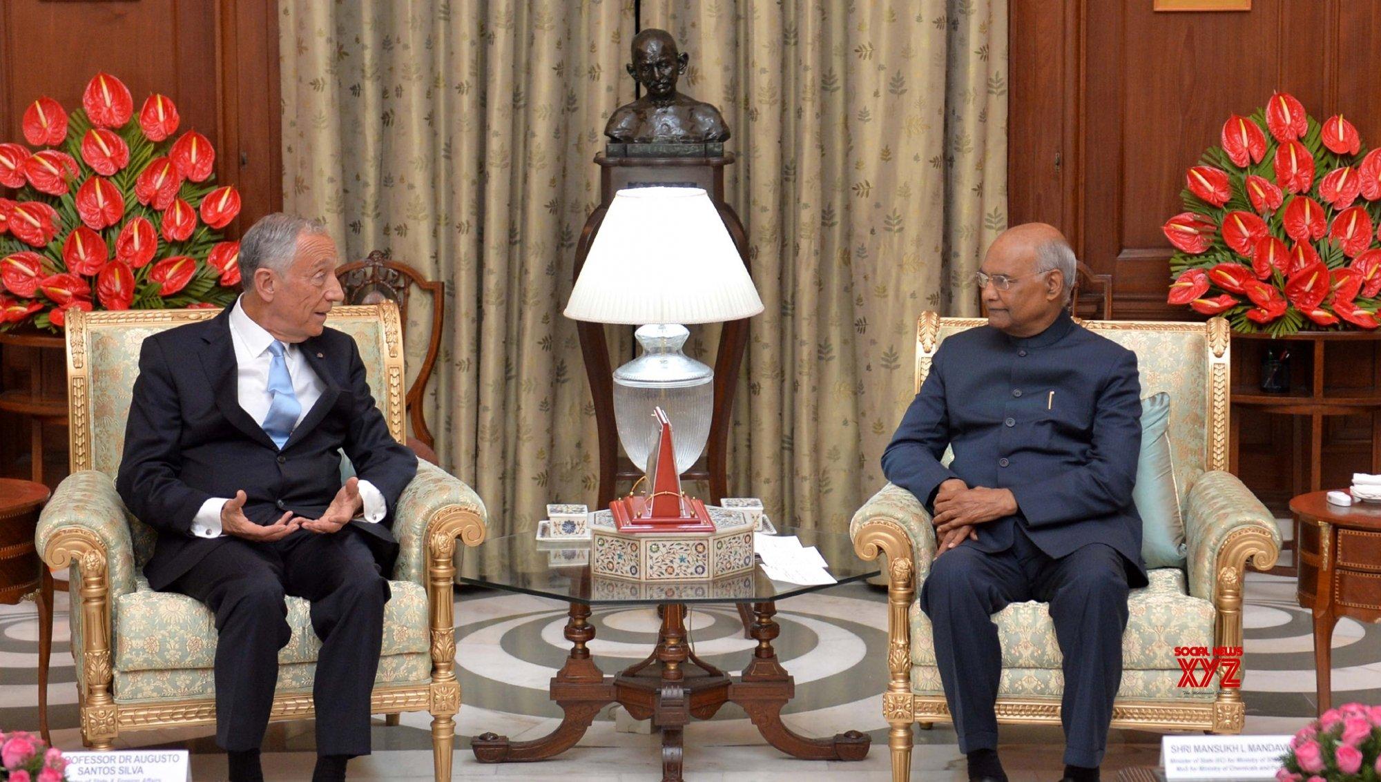 New Delhi: Portuguese President meets Kovind #Gallery