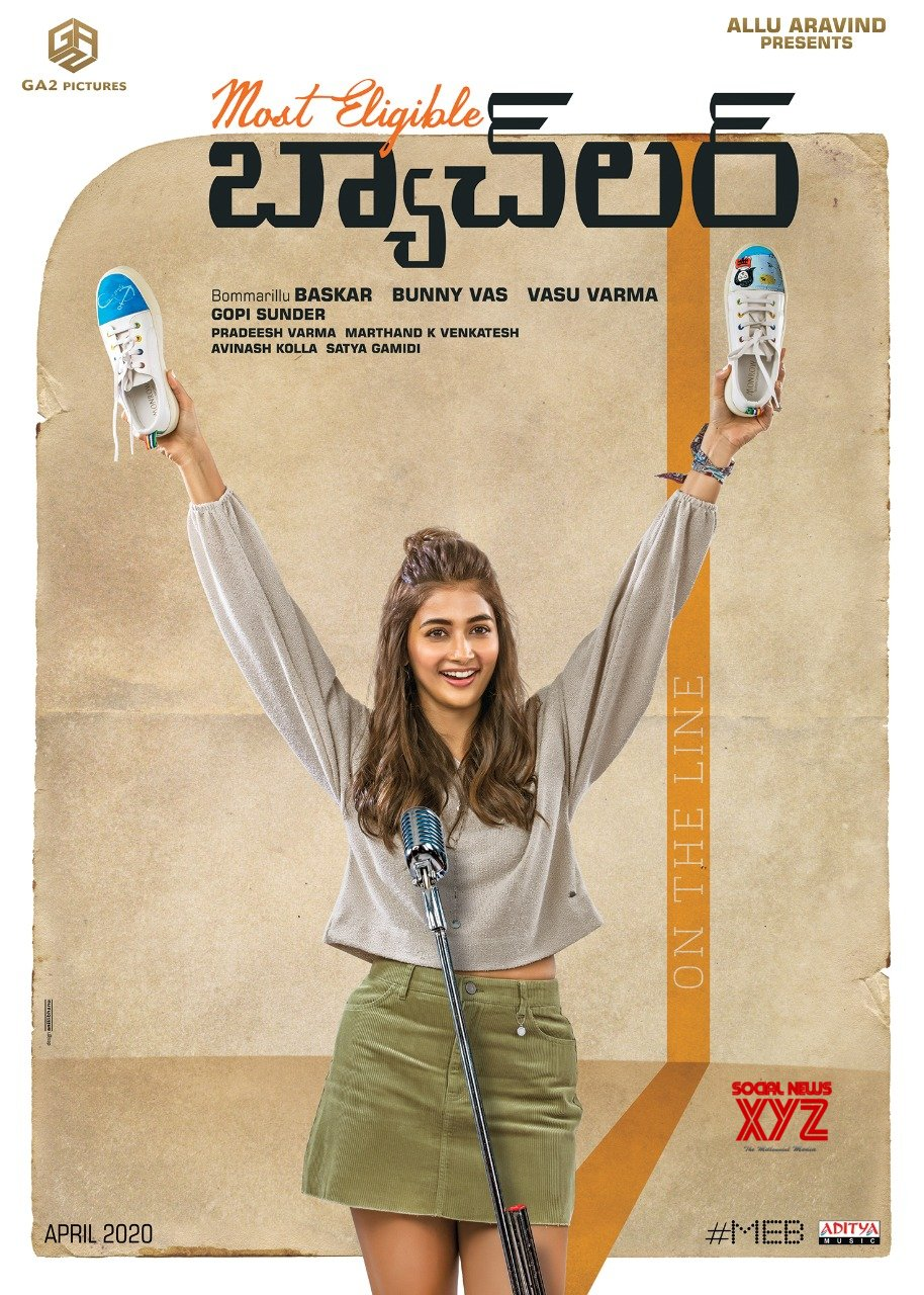 """Pooja Hegde First Look Poster As """"Vibha"""" From Most Eligible Bachelor Movie"""