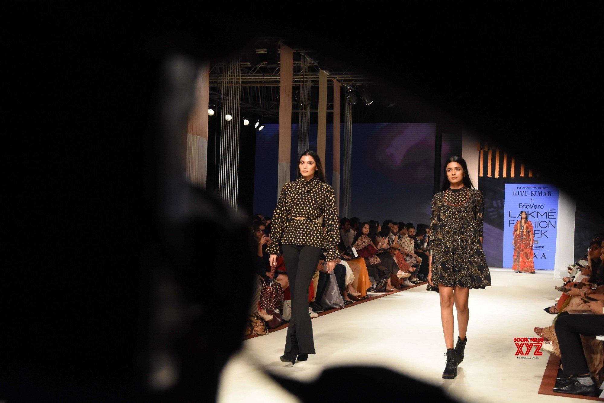Mumbai: Aditi Rao Hydari walks for Ritu Kumar at Lakme Fashion Week Day 3 #Gallery