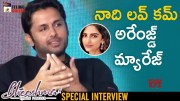 Nithin Reveals about his Love Story (Video)