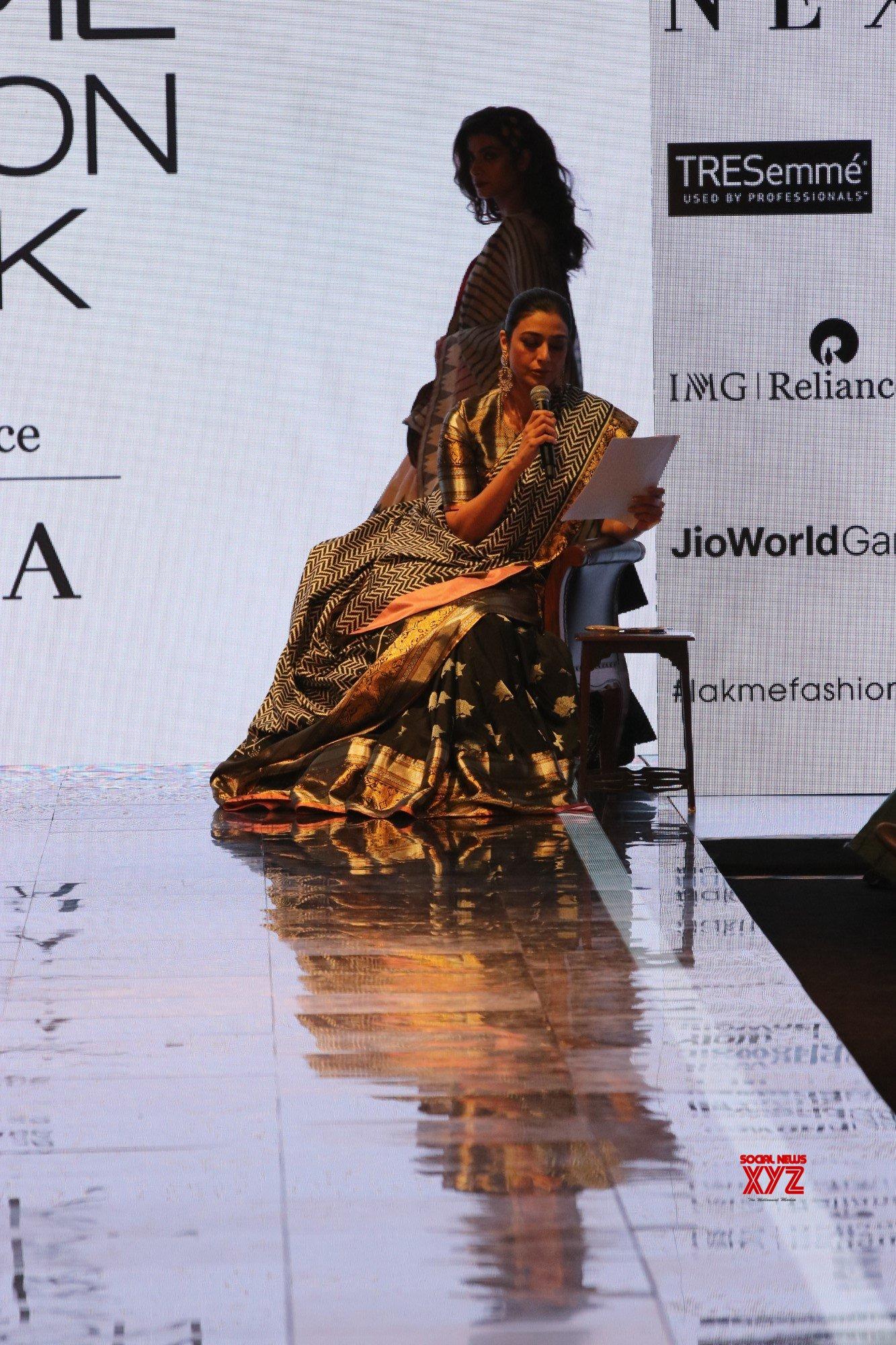 Tabu Walked For Garam Masala By Lakme Salon X Gaurang At Lakme Fashion Show SR 2020 Gallery