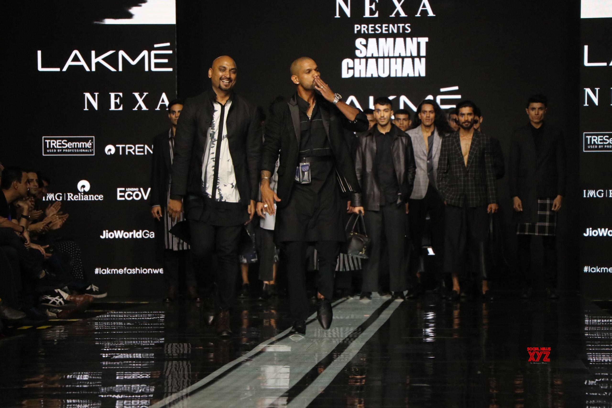 Shikhar Dhawan Walks For Samant Chauhan At Lakme Fashion Week Summer Resort 2020 HD Gallery