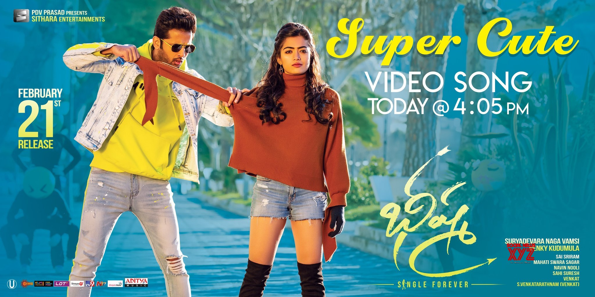 Nithiin And Rashmika Manadana S Super Cute Video Song From Bheeshma Will Be Out At 4 05 Pm Social News Xyz