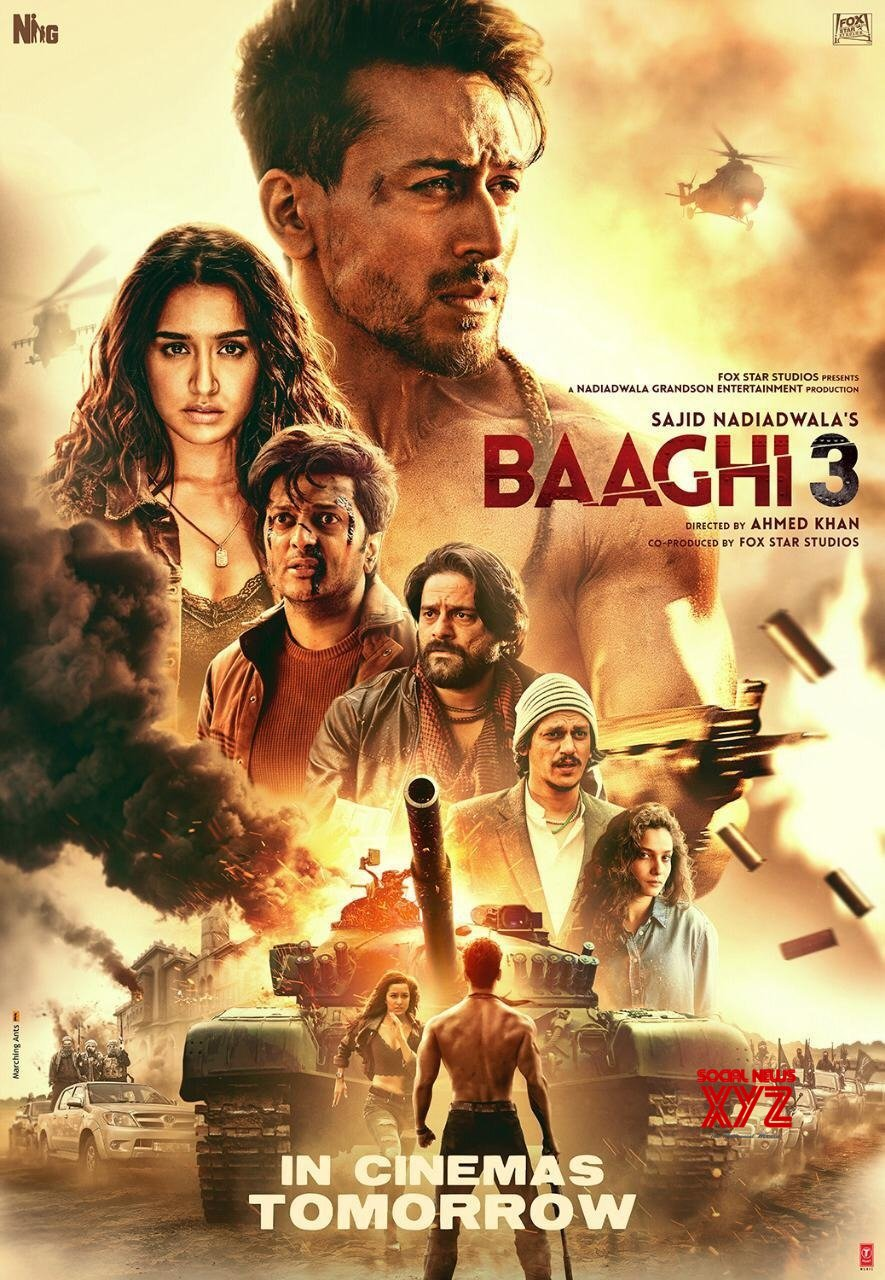Baaghi 3 (2020) Hindi Pre-DvDRip - 480P | 720P - x264 - 400MB | 700MB | 1.2GB - Download & Watch Online  Movie Poster - mlsbd
