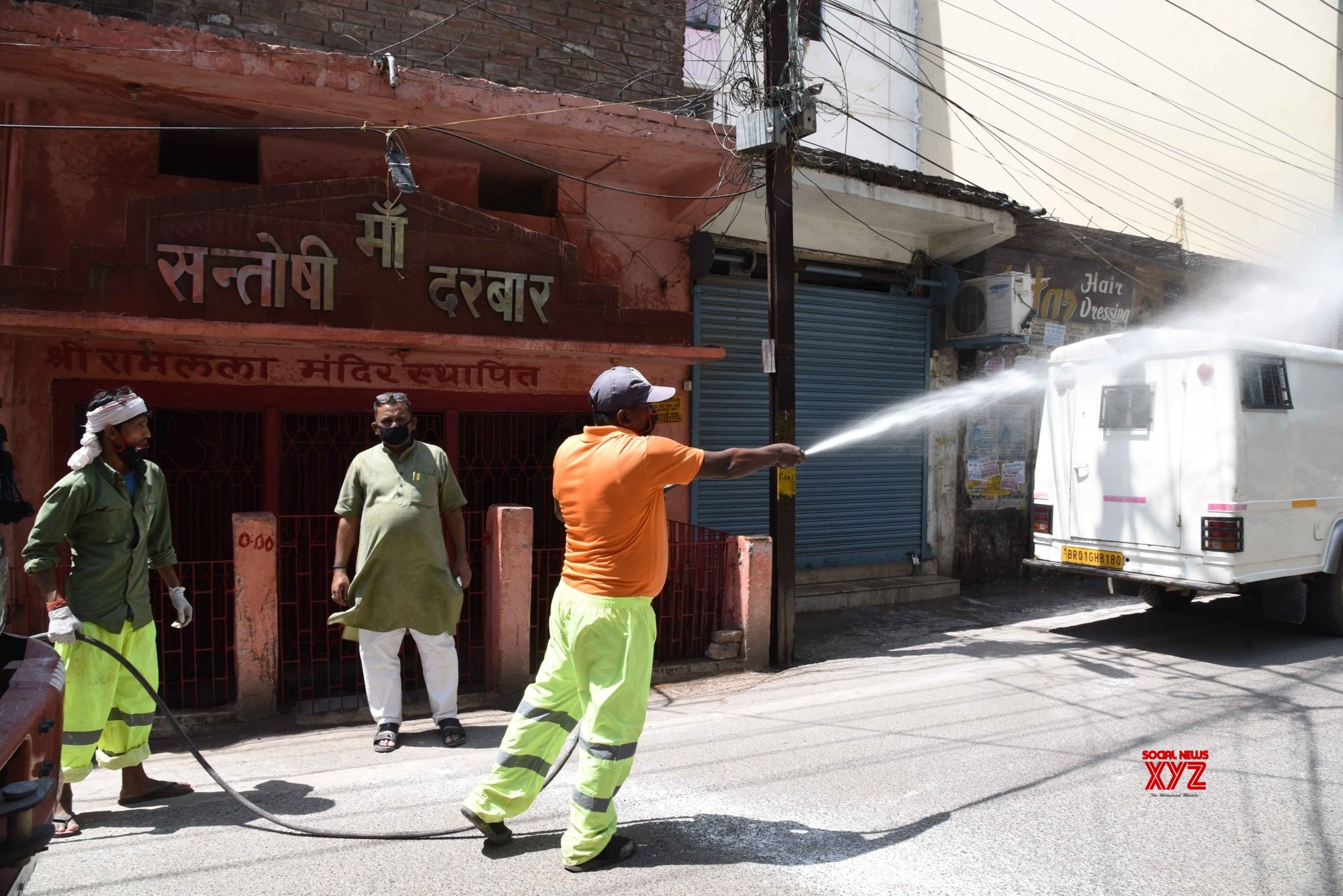 Patna: City being disinfected amid lockdown #Gallery
