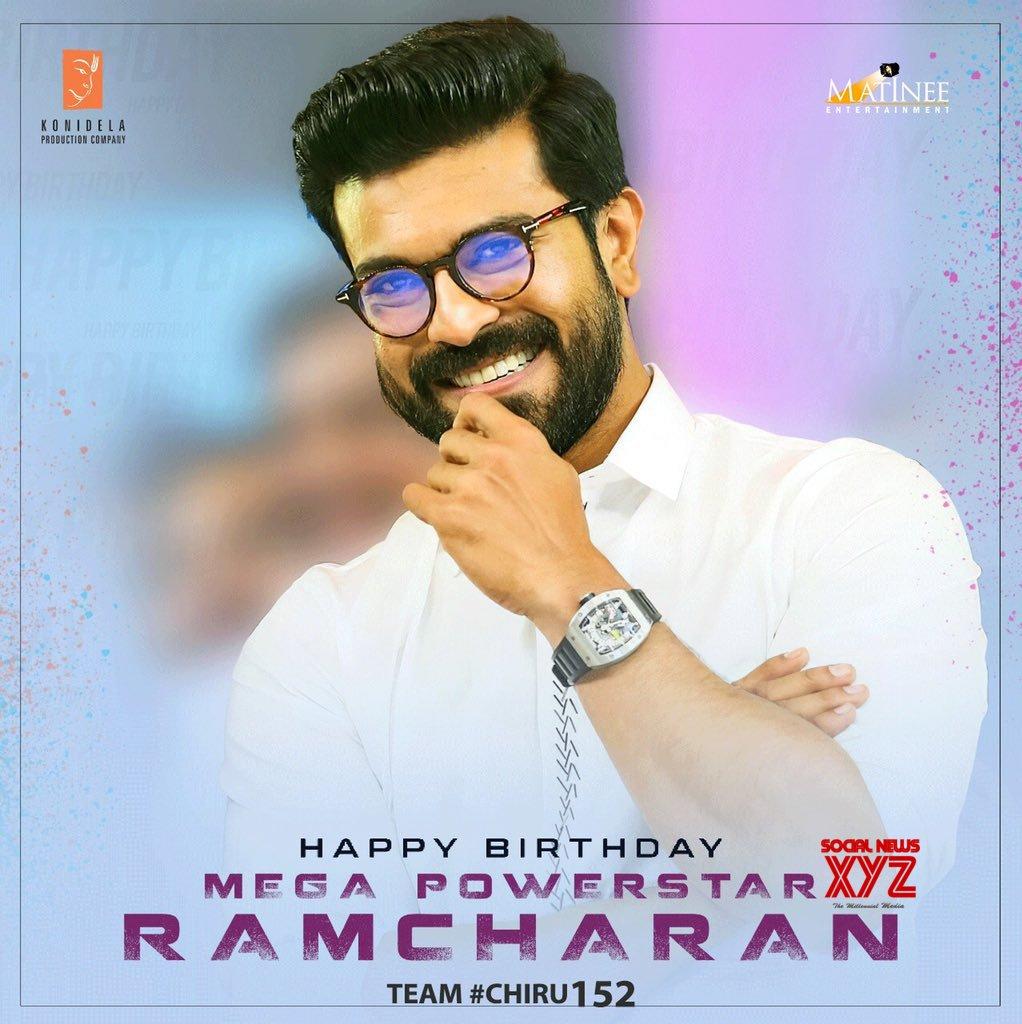 Ram Charan Birthday Poster From #Chiru152 Movie Team