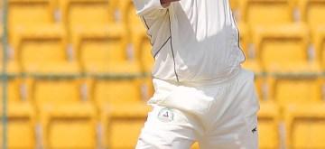 Bengaluru: Vidharba cricketer Wasim Jaffer in action during the Ranji Trophy Match between Vidharba and Karnataka at Chinnaswamy Stadium, in Bangalore on Oct 16, 2015. (Photo: IANS)