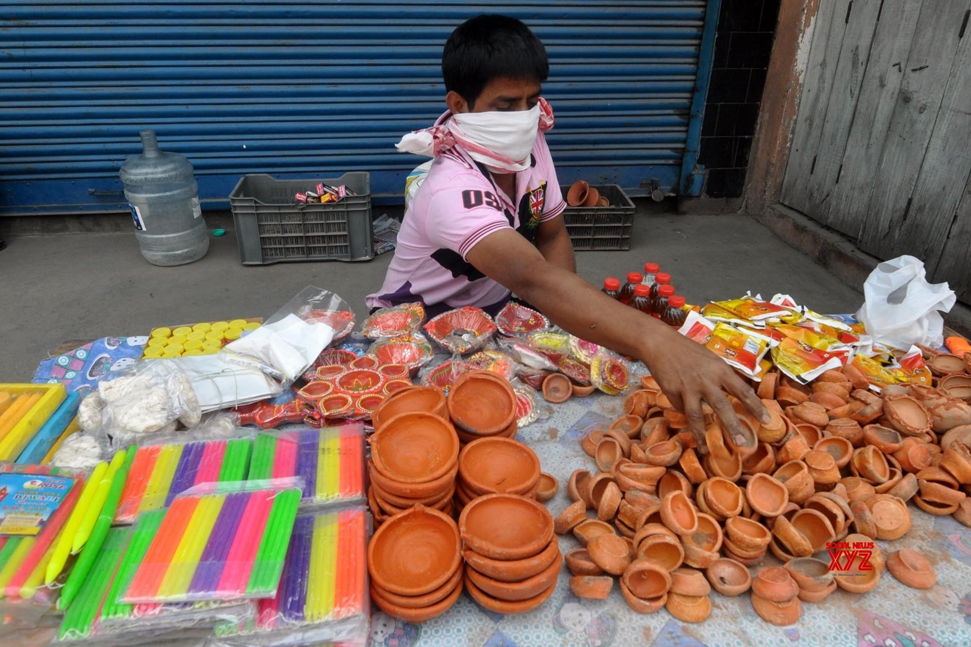 Guwahati: Earthen lamps, candles on sale as PM urges to challenge the darkness caused by coronavirus #Gallery