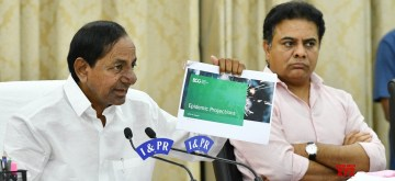 Hyderabad: Telangana Chief Minister K Chandrasekhar Rao addresses a press conference to announce that the Coronavirus Lockdown shall continue in the state after April 14 till June 3; on Apr 6, 2020. (Photo: IANS)