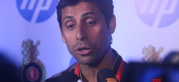 New Delhi: Royal Challengers Bangalore (RCB) bowling coach Ashish Nehra talks to the press during the launch of RCB's jersey, in New Delhi on March 26, 2018. (Photo: IANS)
