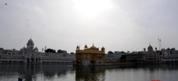 Amritsar: A view of the Golden temple on the occasion of the Baisakhi festival during the nationwide lockdown announced by Prime Minister Narendra Modi as a precautionary measure to contain the spread of COVID-19, in Amritsar on April 13, 2020. (Photo: IANS)