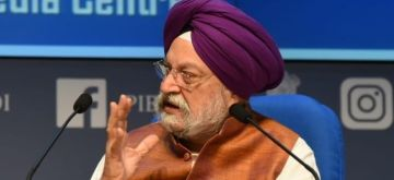 New Delhi: Union MoS Civil Aviation Hardeep Singh Puri addresses a press conference on calibrated resumption of air services during the fourth phase of the nationwide lockdown imposed to mitigate the spread of coronavirus, in New Delhi on May 21, 2020. (Photo: IANS/PIB)