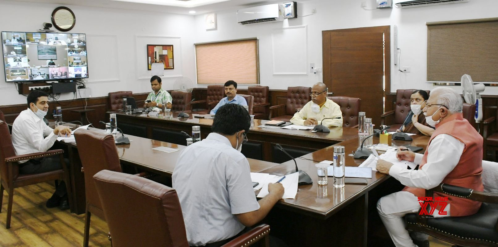 Chandigarh: Manohar Lal Khattar presides over a review meeting of the Food, Civil Supplies and Consumer Affairs Deptt #Gallery