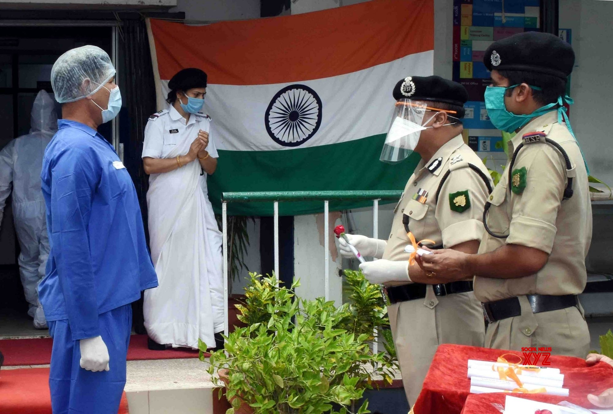 Kolkata: Eight BSF soldiers discharged post recovery from COVID - 19 #Gallery
