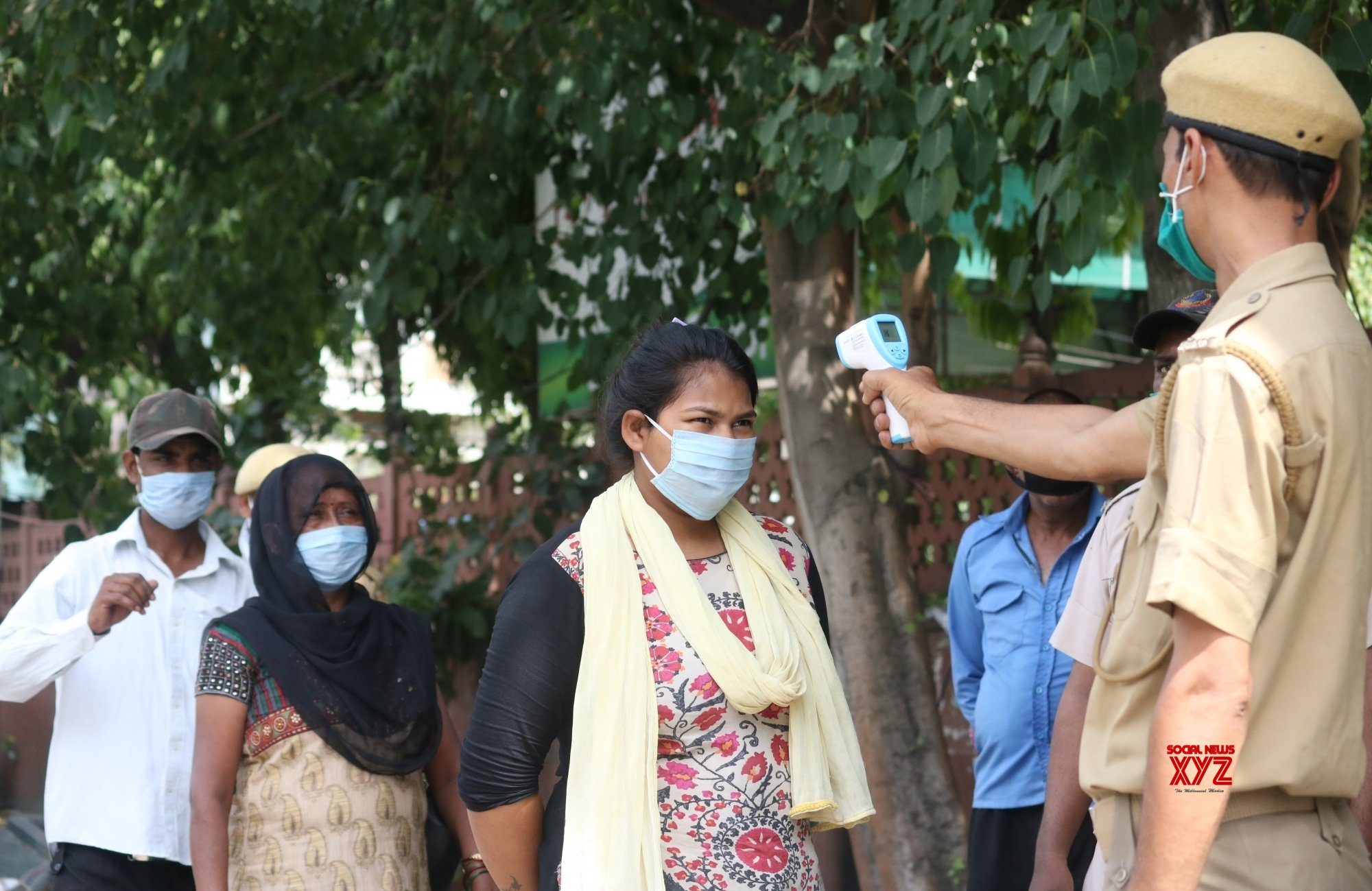 New Delhi: People undergo themal screening for COVID - 19 #Gallery