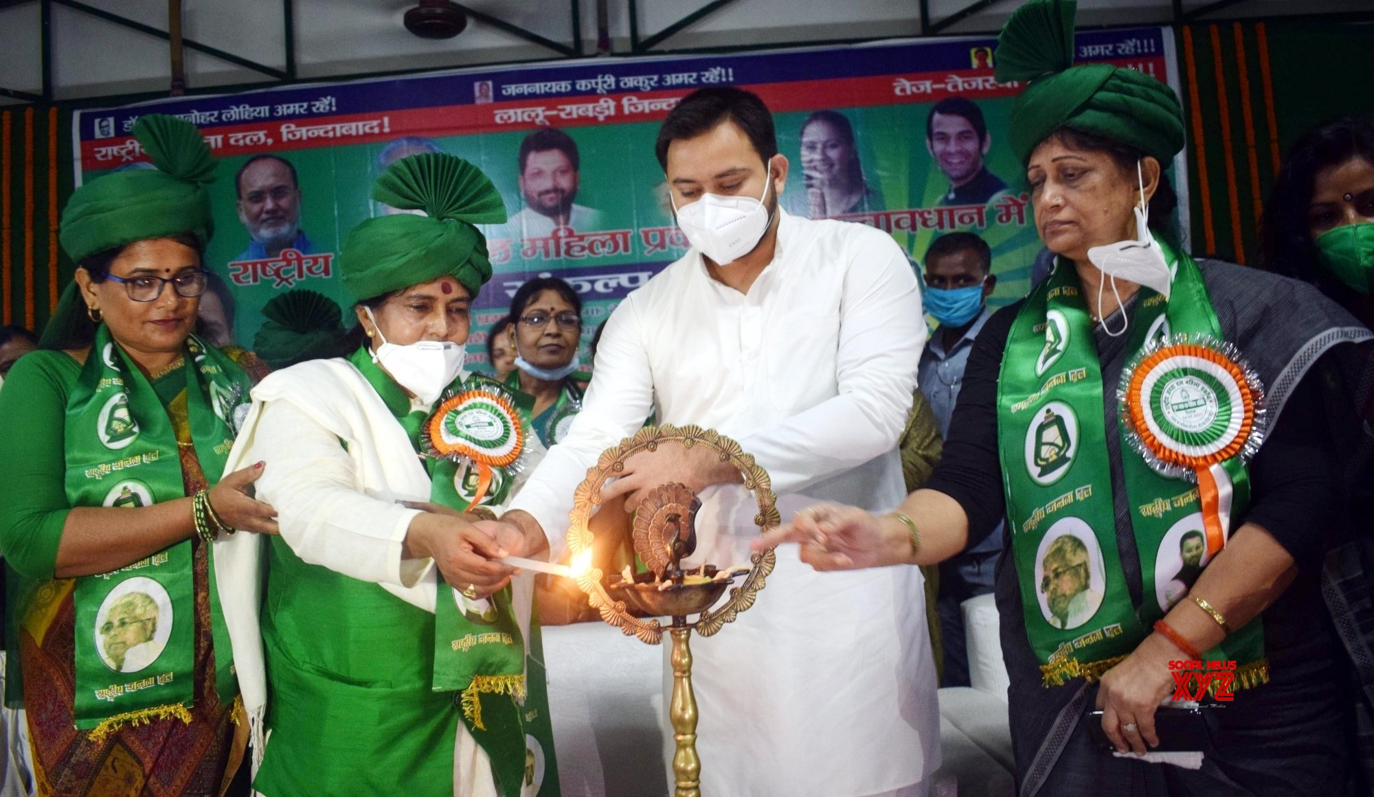 Patna: Tejashwi Yadav at RJD women cell meeting #Gallery