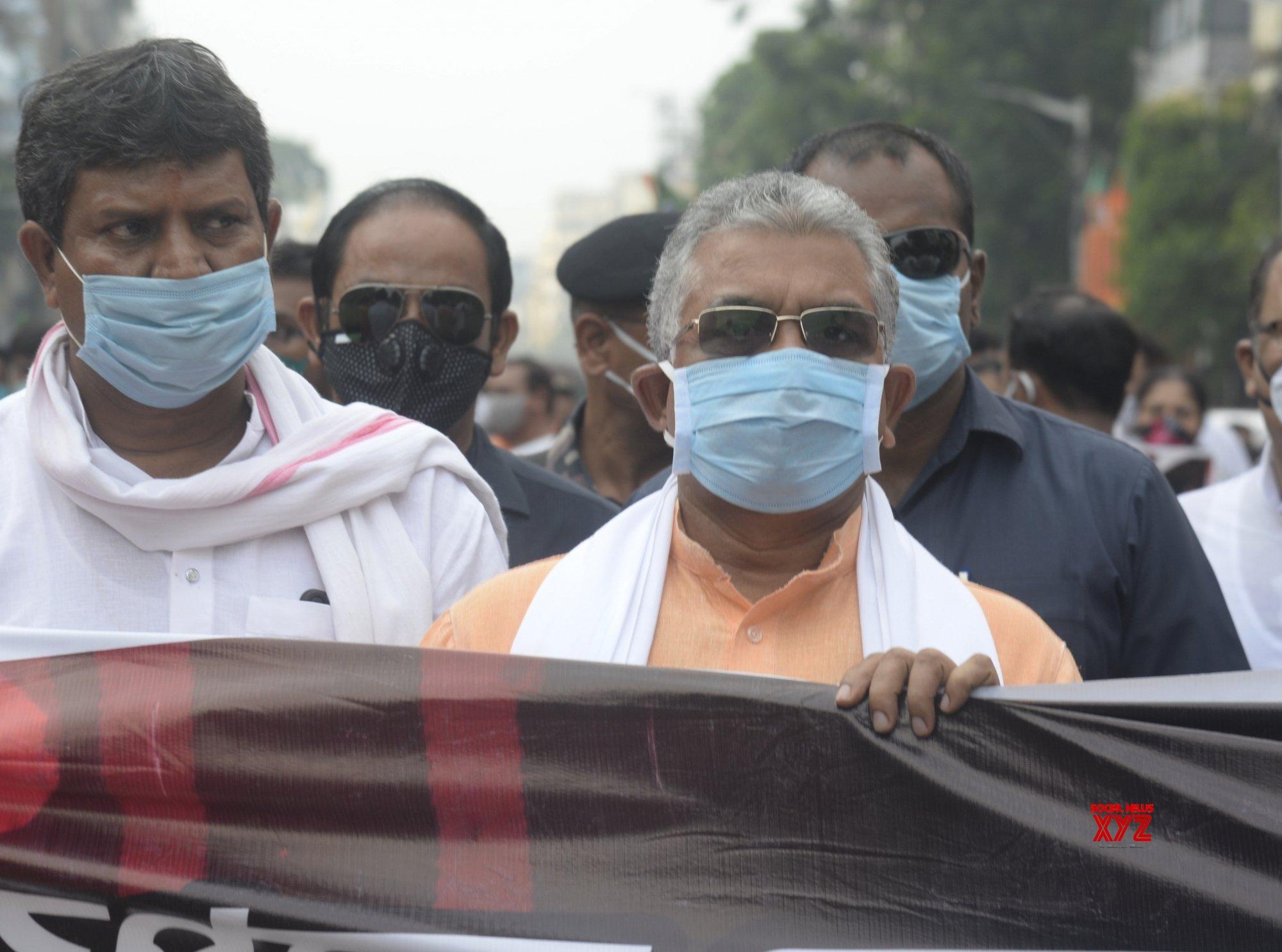 Kolkata: Bengal MLA death: BJP protests (Batch - 2) #Gallery