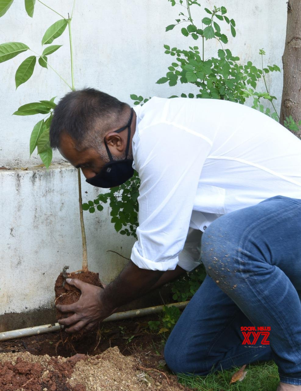 Director Deva Katta Accepted The Green India Challenge Given By Allari Naresh And Planted Saplings At His Home
