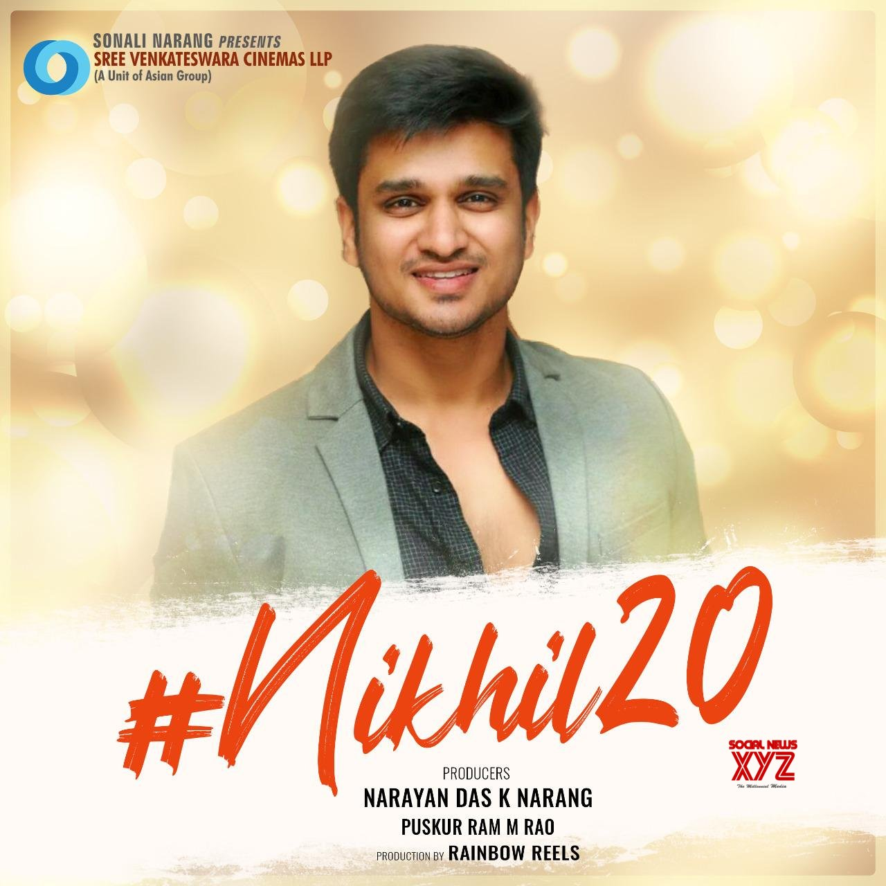 Nikhil's #Nikhil20 Confirmed In SVC LLP's Next Venture Produced By Narayandas K Narang And Puskur Ram M Rao In Rainbow Reels Production